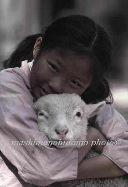 眞下伸友の作品 国際証券 世界の子供たち スチール撮影